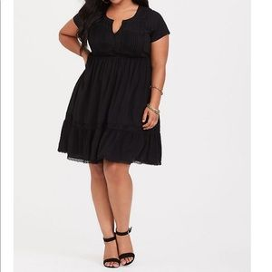 NWT torrid size 3 pintuck lace trim skater dress